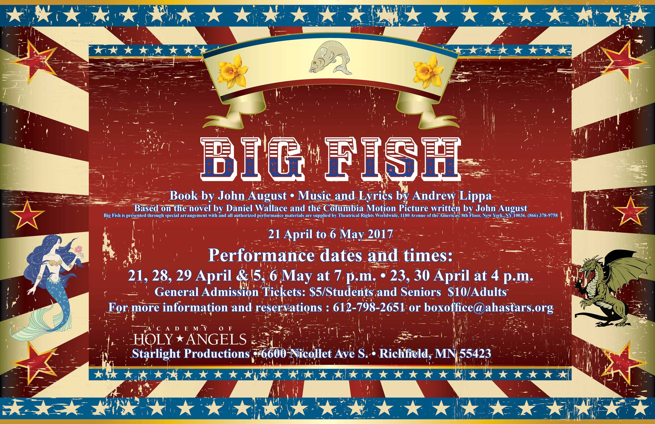 Big Fish opens April 21st