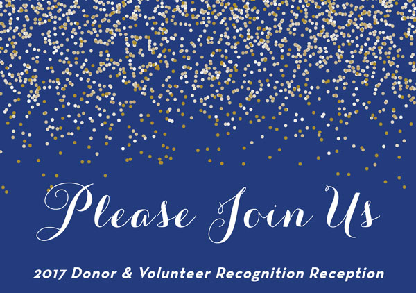 2017 Donor & Volunteer Recognition Reception