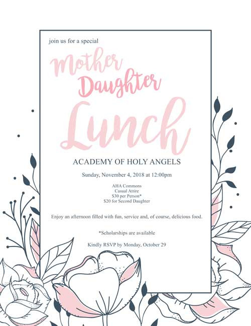 Mother Daughter Banquet is Nov 4