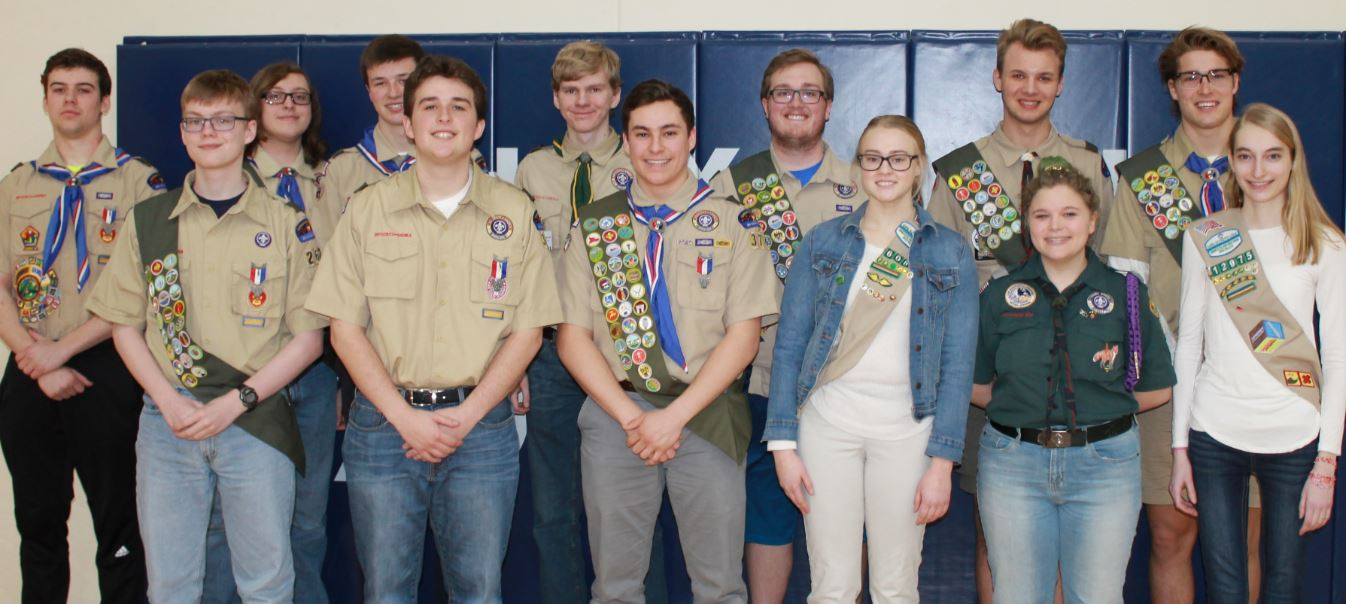 11 Eagle Scouts and 3 Gold Awards Honored